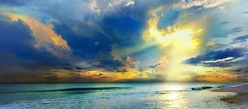 136353_blue-seascape-art-print-gold-sunrays-sunset_art
