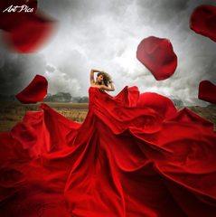 97481_真っ赤なドレス
